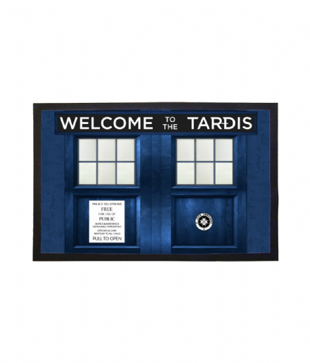 TARDIS Design Welcome Mat Doctor Who Inspired Doormat